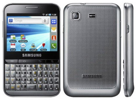 Samsung Galaxy Pro B7510 Back View
