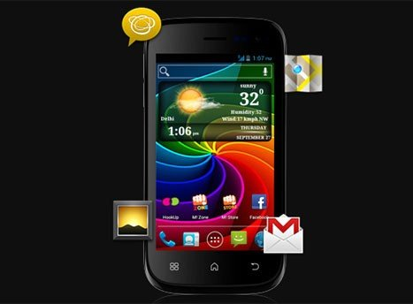 Micromax A68 Smarty 4.0 Screen