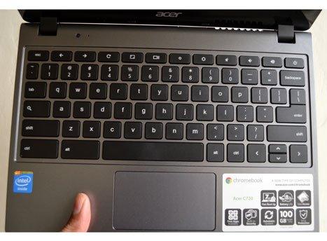 Acer Chromebook keypad