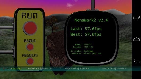 Moto G NenaMark 2 Test